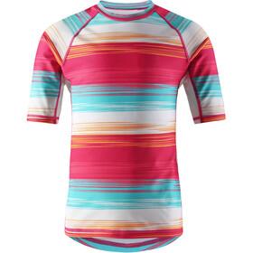 Reima Ionian Swim Shirts Kids candy pink/streifen
